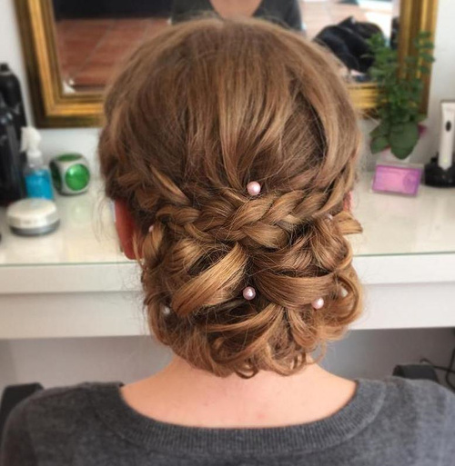 Fabulous And Chic Homecoming Braided Hairstyle With Clip On Hair Extensions