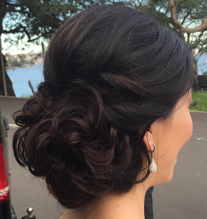 Curly Bun Prom Updo