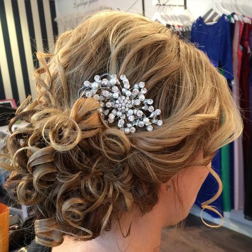 curly formal updo