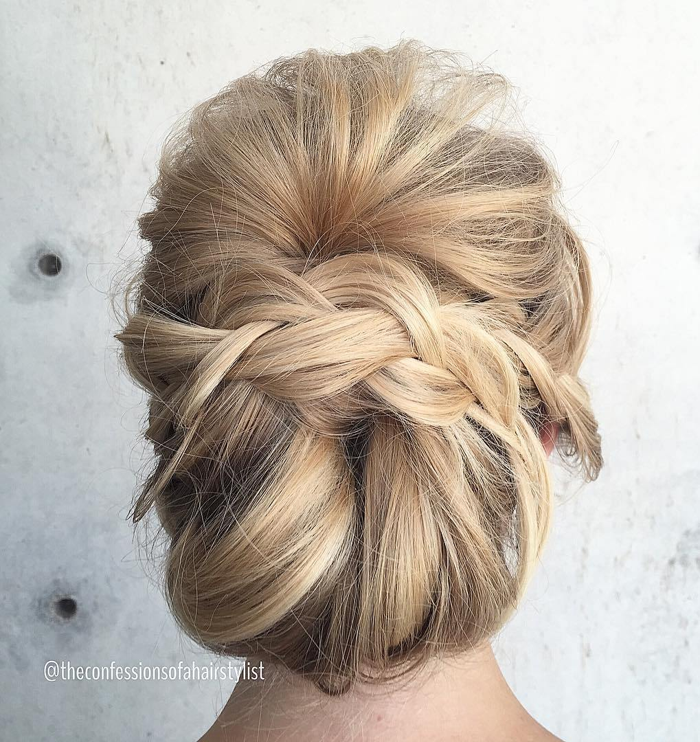 hair chignon styles trubridal wedding 40 most delightful prom updos for 7467