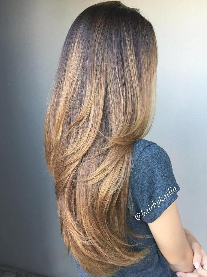 Beautiful Haircut For Long Hair and trendy hair color