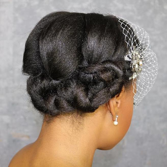 Black Women Wedding Hair Style: 50 Superb Black Wedding Hairstyles