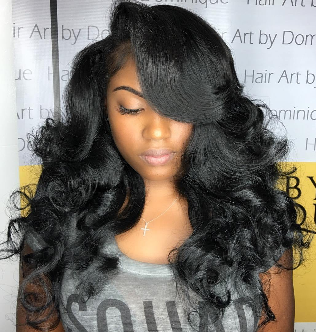 Sizzling and Ravishing Curly Weave Hairstyles for Black Women