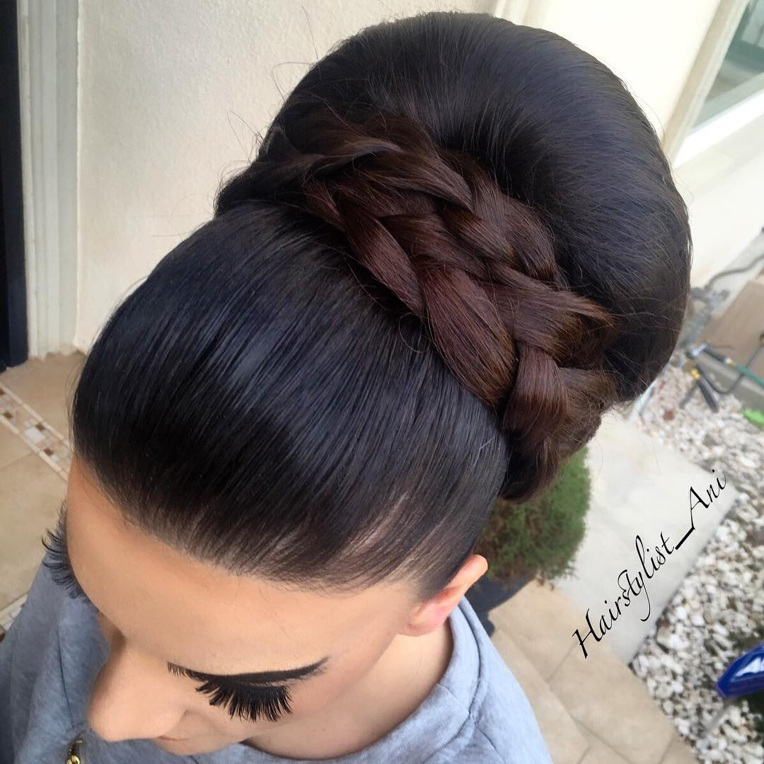 Sleek Big Bun Prom Updo