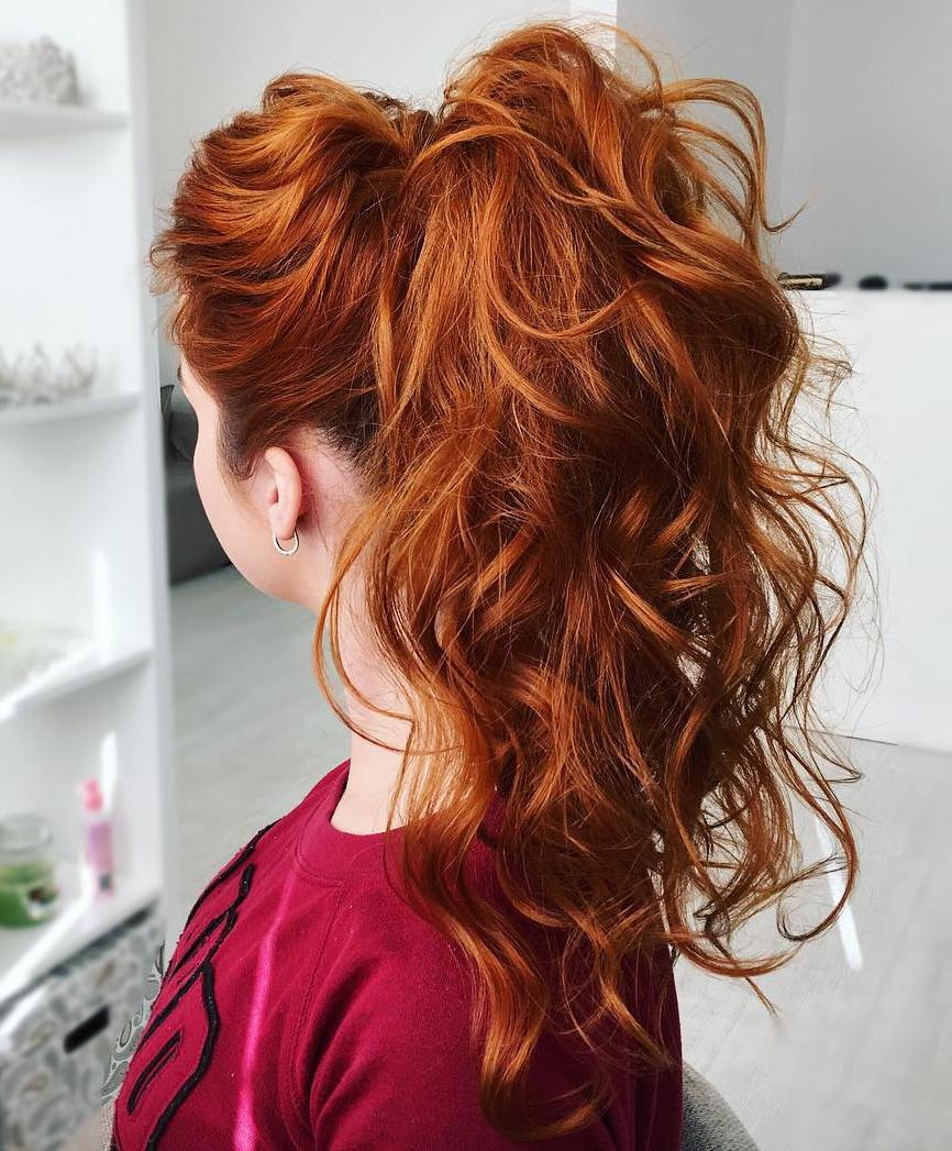 Curly Ponytail For Long Hair