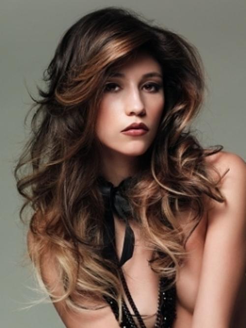 Undershave Hairstyles: Dark Brown Hair Highlight Ideas