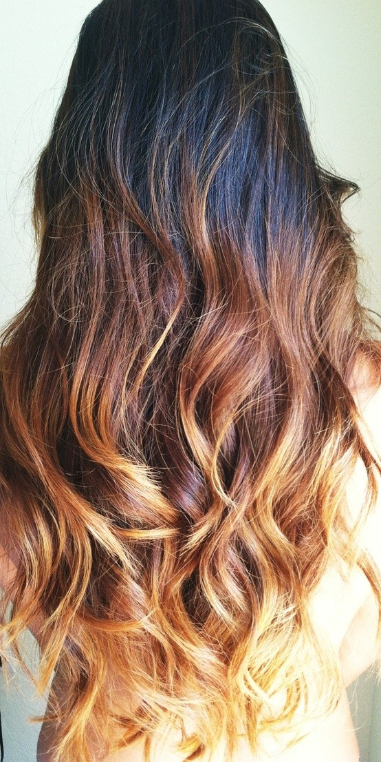 34: Light Brown Ombre Highlights With Platinum Tips