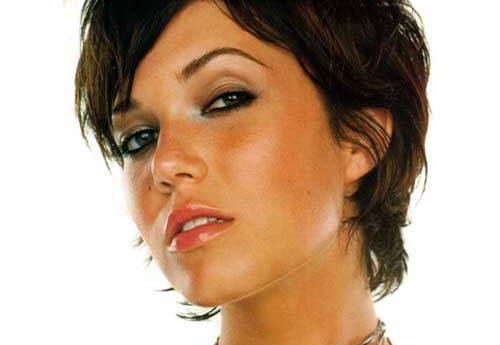 ... Mandy Moore Straight Slicked Back Short Haircut   Short Hairstyle 2013
