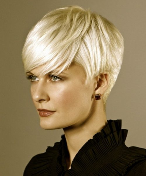 short haircut fine blond hair