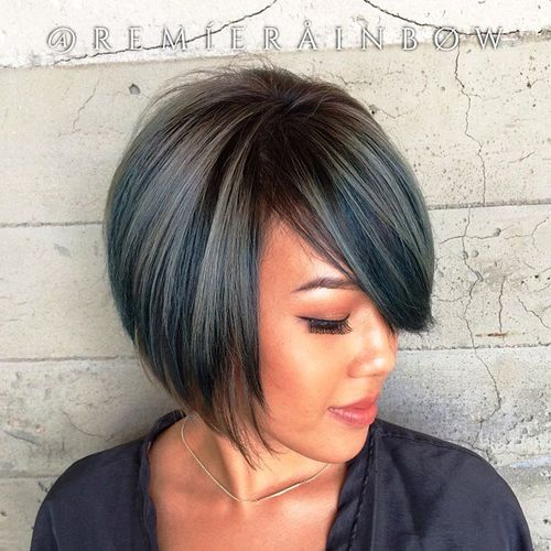 ... Bob Hairstyles With Bangs together with Hairstyle Layered Bob Haircut