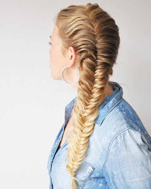 french plat hair style 40 awesome jazzed up fishtail braid hairstyles 6878 | 3 side french fishtail for long hair