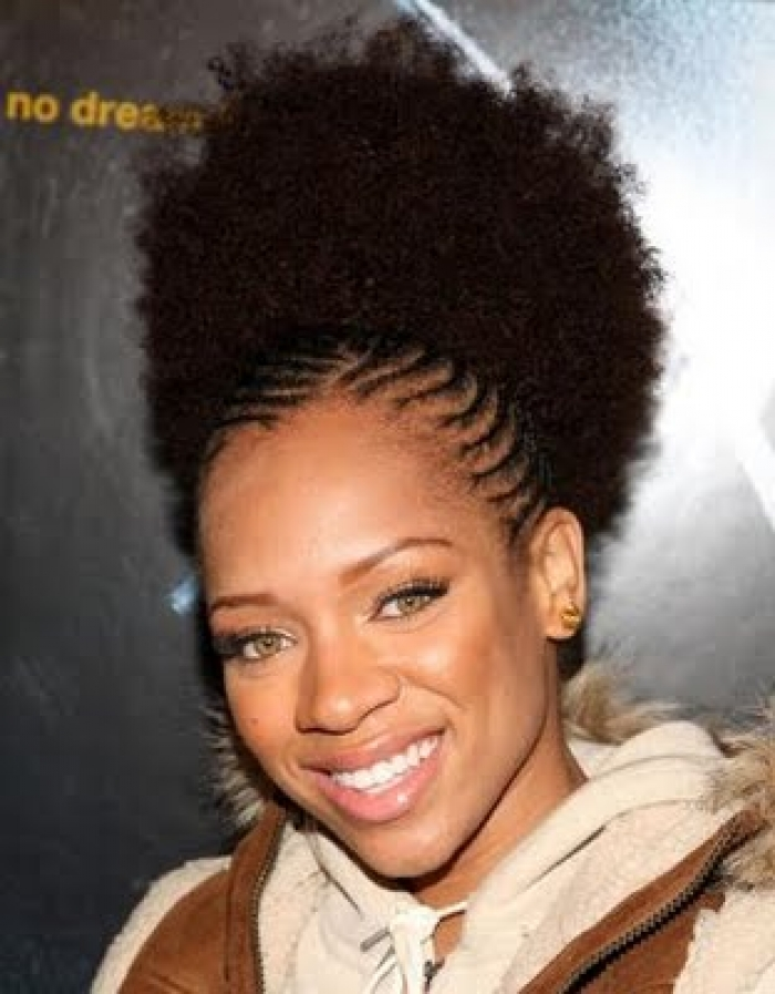 black natural puff hairstyle