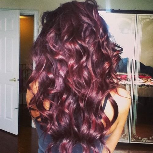 15 Luring Solutions For Burgundy Hair Color In Brunettes, Blondes And ...