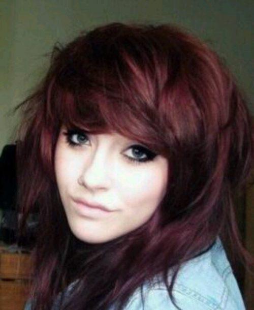 Burgundy Hue For Dark Brown Hair
