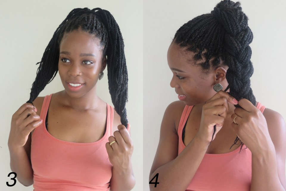 11 Inventive Visual Instructions On How To Style Box Braids