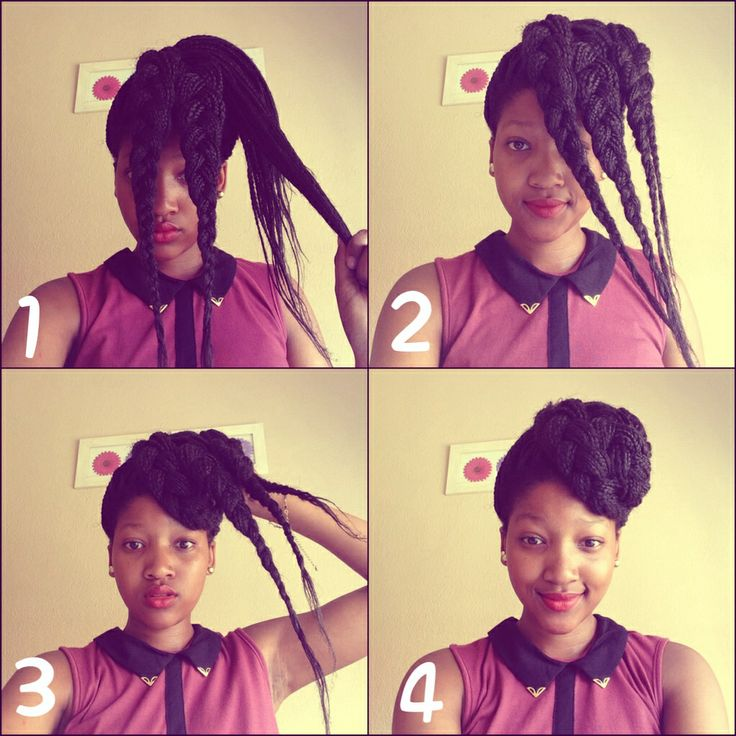 Super 10 Instructions Directing You On How To Style Box Braids Short Hairstyles For Black Women Fulllsitofus