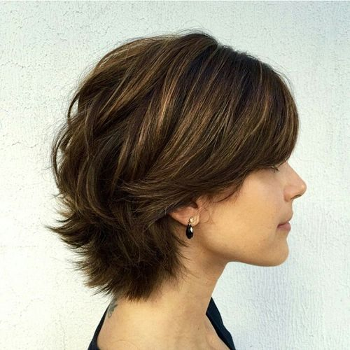 Classy Short Haircuts And Hairstyles For Thick Hair - Hairstyles for short hair layered