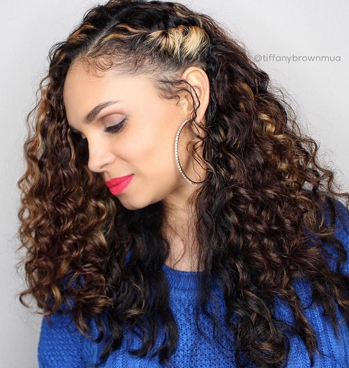 side styles for long hair 20 hairstyles and haircuts for curly hair curliness is 6436 | 3 side pinned long curly hairstyle