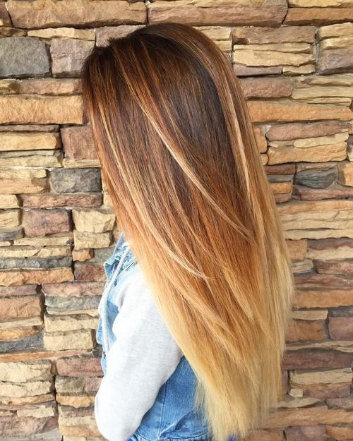 Hair Color Dark Caramel Ombre Coloration Light Blonde Dye For Skin Amusing Por