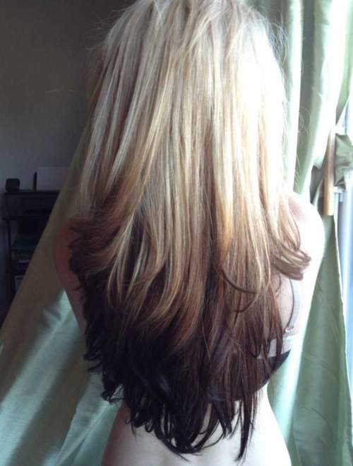 Cool Reverse Ombre Hair With Perfect Fades Into Browns Amp Blacks Hairstyle Inspiration Daily Dogsangcom