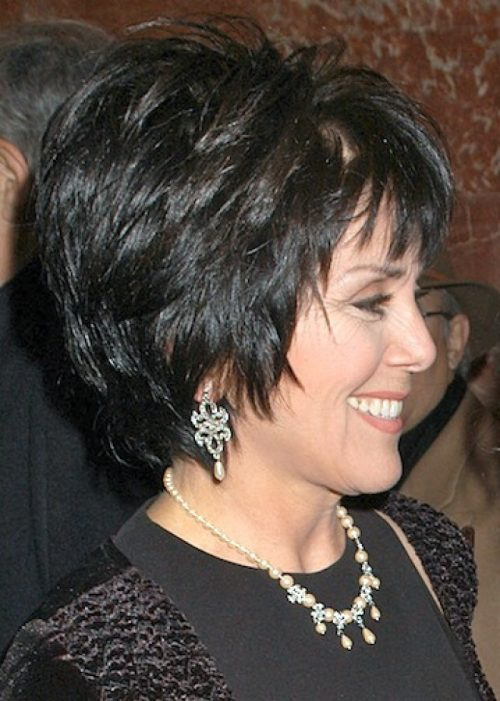 Short Layered Hairstyle Older Women