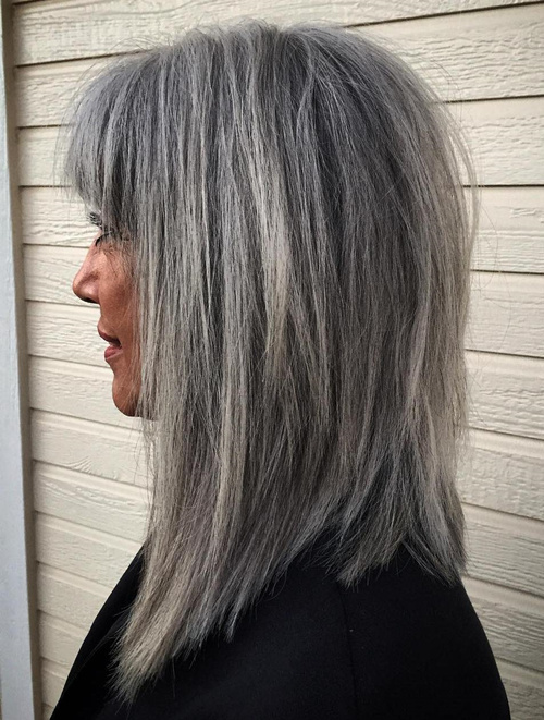 salt pepper hair styles 60 gorgeous hairstyles for gray hair 9263
