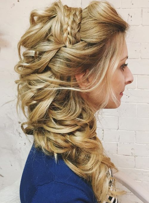 side styles for long hair 40 gorgeous wedding hairstyles for hair 6436 | 3 half up curly side wedding hairstyle for long hair