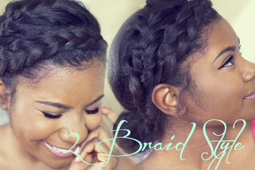Braided Updo Styles For Natural Hair: 10 Unique Black Braided Updos