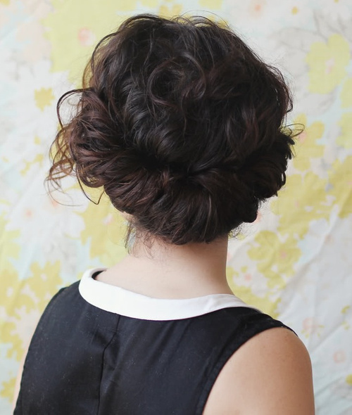 curly hair updo styles 30 creative updos for curly hair 3389