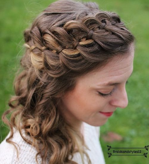 40 Cute and Comfortable Braided Headband Hairstyles f0f1a34dc66