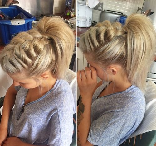 Wondrous Braided Ponytail Hairstyles 40 Cute Ponytails With Braids Short Hairstyles For Black Women Fulllsitofus