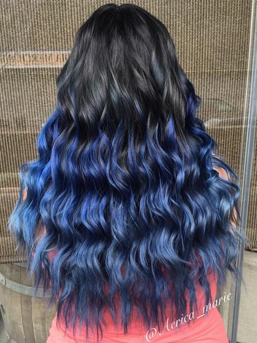 30 fairylike blue ombre hairstyles