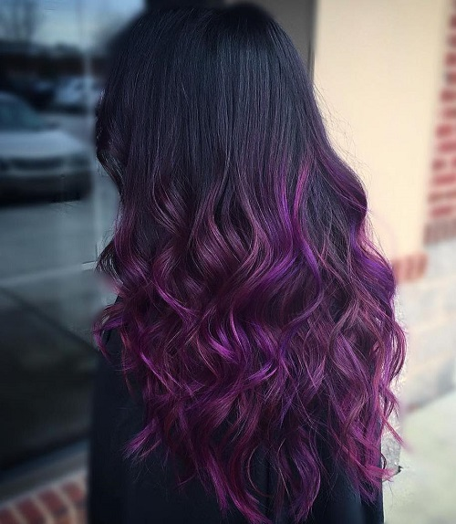 Purple ombre hair ideas plum lilac lavender and violet hair colors solutioingenieria
