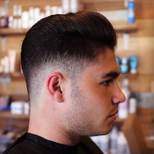 Taper fade haircut men