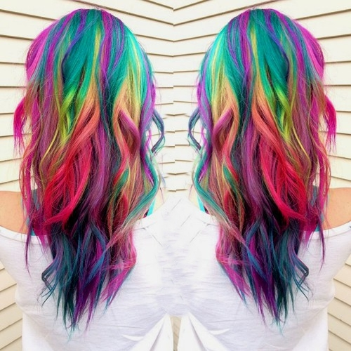 dyed hair styles 20 rainbow hair pictures to join the unicorn tribe 3541