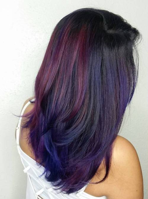 40 versatile ideas of purple highlights for blonde brown and red hair pmusecretfo Images