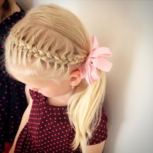 hair style for toddler girl 20 adorable toddler hairstyles 5631 | 14 side ponytail and a braid hairstyle for girls