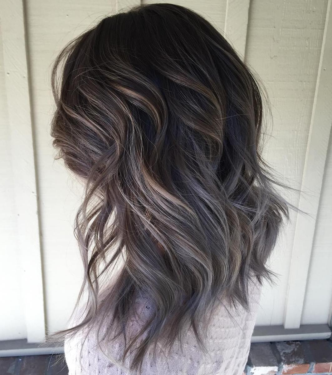 45 ideas of gray and silver highlights on brown hair solutioingenieria