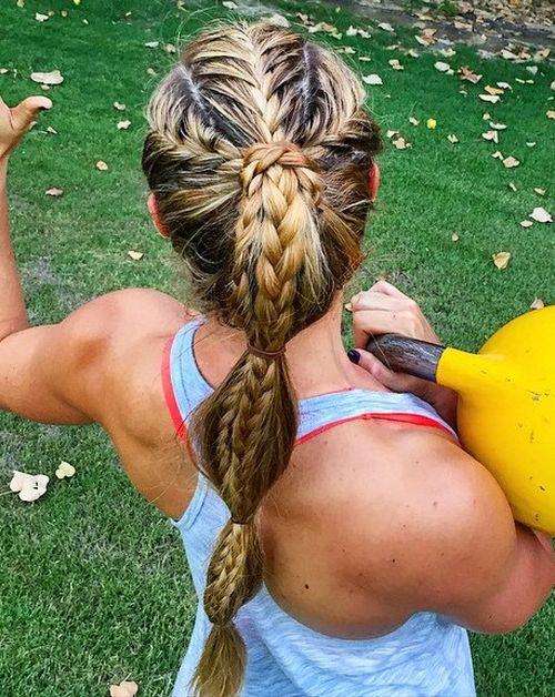 Teen athlete hair style
