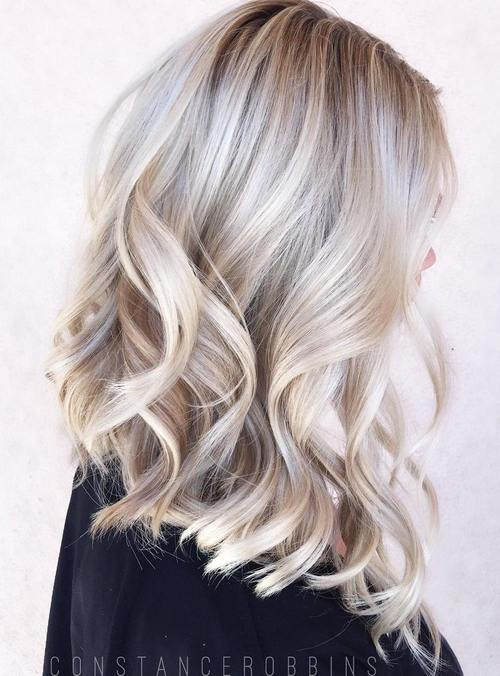 pool party hairstyles : 40 Hair ?olor Ideas with White and Platinum Blonde Hair