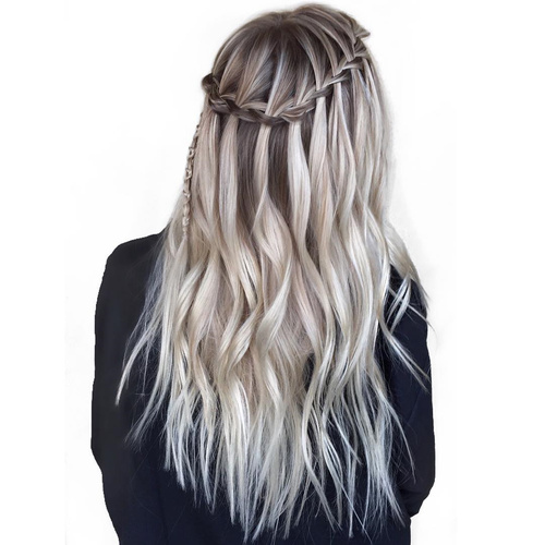 40 Flowing Waterfall Braid Styles Tutorial And Inspiration