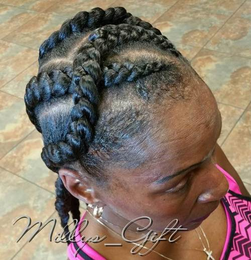 intersecting goddess braids