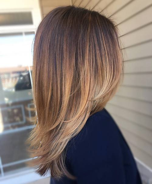 Ombre Hair Brown To Caramel To Blonde Medium Length 40 of the Best ...