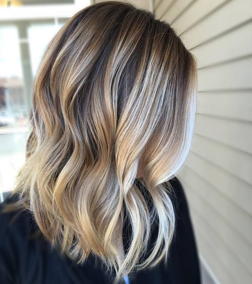 Blonde and dark brown hairstyles