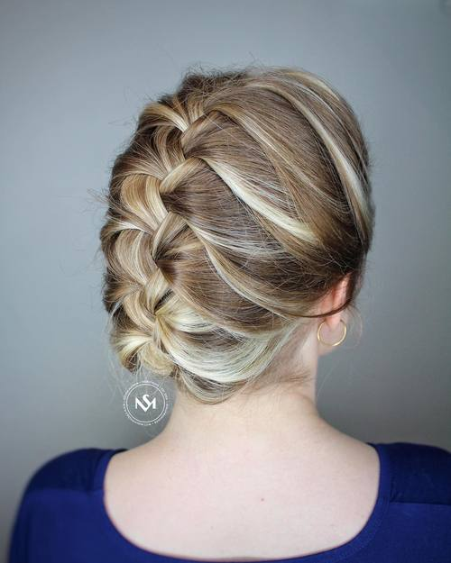 French Braid Updo For Work