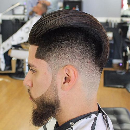 Haircut Latest : haircut long on top fade with beard Car Tuning