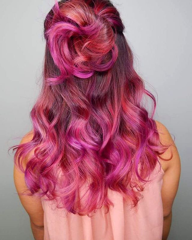 hair colour and styles for hair 20 unboring styles with magenta hair color 5489