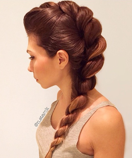 French Twist Into Rope Braid Back To School Hairstyles Video Tutorial