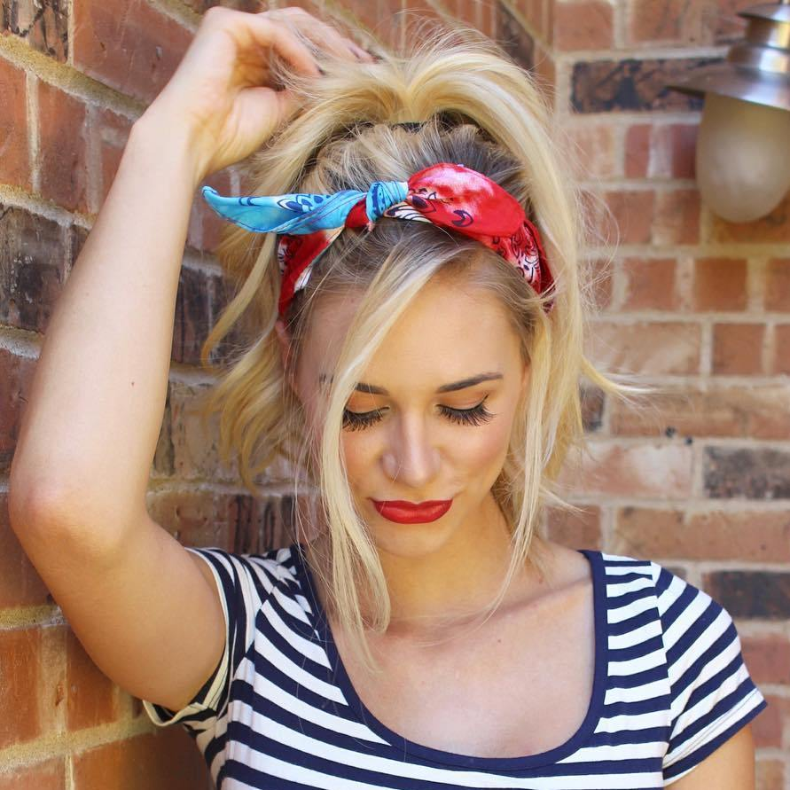 20 Gorgeous Bandana Hairstyles for Cool Girls 1d3c05f67a0