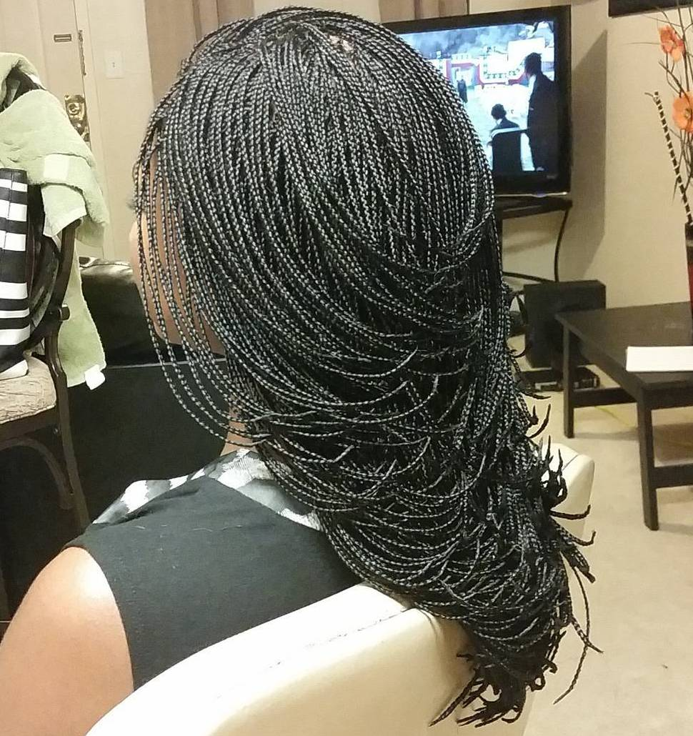 braiding styles black hair 40 ideas of micro braids invisible braids and micro twists 2835